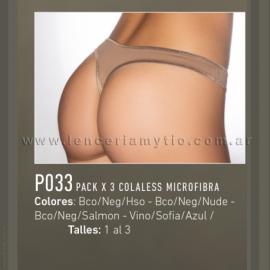 Pack x 3 colaless microfibra