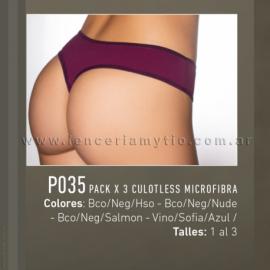 Pack x 3 culotless microfibra