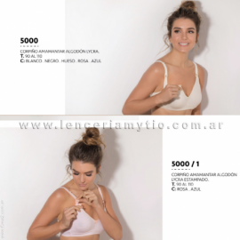 CORPIÑO AMAMANTAR  ALGODON LYCRA - ART 5000