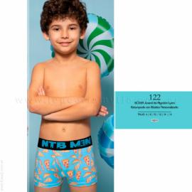 ART 112 - boxer juvenil de algodón y lycra estampado