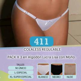 ART 411- Cola Less en Algodón con Lycra Lisa REGULABLE