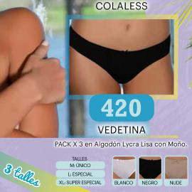 Vedetina en Algodón con Lycra Lisa Clasica.
