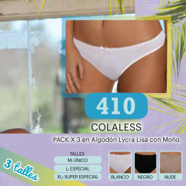 Cola Less en Algodón con Lycra Lisa Clasica.