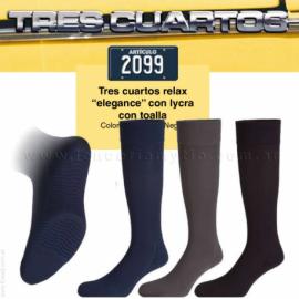 "PACK X3 o x12 - MEDIA 3/4 CON LYCRA RELAX ""ELEGANCE""- ART 2099"