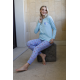 ART 4305 - Pijama de algodon manga larga con pantalon estampado