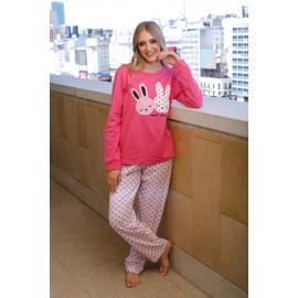 ART 4306 - Pijama especial manga larga con pantalon estampado